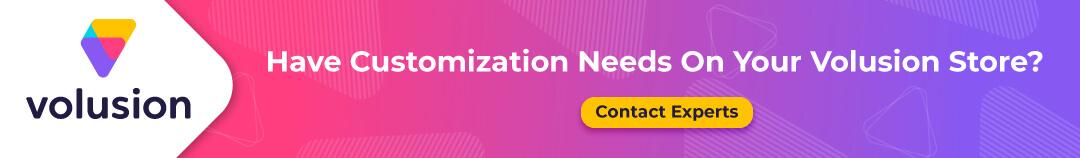 volusion customization service
