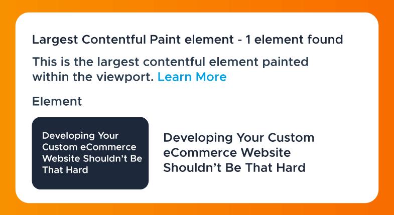 Largest Contentful Paint Element